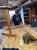 Man woodworking